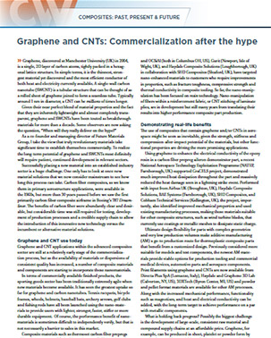 Graphene and CNTs: Commercialization after the hype